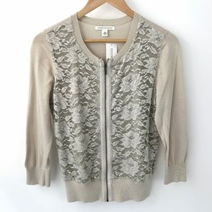 Banana Republic Lace Front Cardigan With Tag